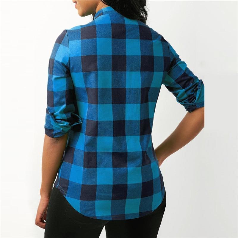 2019 Autumn Cotton Women Blouses Vintage Sexy Hollow Out Bandage Plaid Pocket Casual Long Sleeve 5xl Big Plus Sizes Shirts Blouses & Shirts
