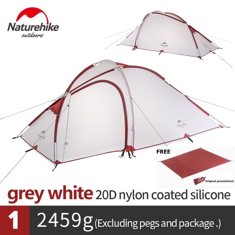 Naturehike Hiby Famille Tente 20D Silicone Tissu Étanche Double-Couche 3 Personne 4 Saison camping tente une chambre un hall
