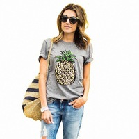 2017 New Product Joker T Pity Pineapple Printing Pattern Leisure Time Easy Short Sleeve Jacket 2165