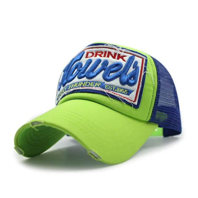 Новая Крышка Сетки Вышивка 3D Дышащий Бейсболка Сетки Хлопок Грузовик Шляпа Мода Открытый Спорт Лето Sunhat