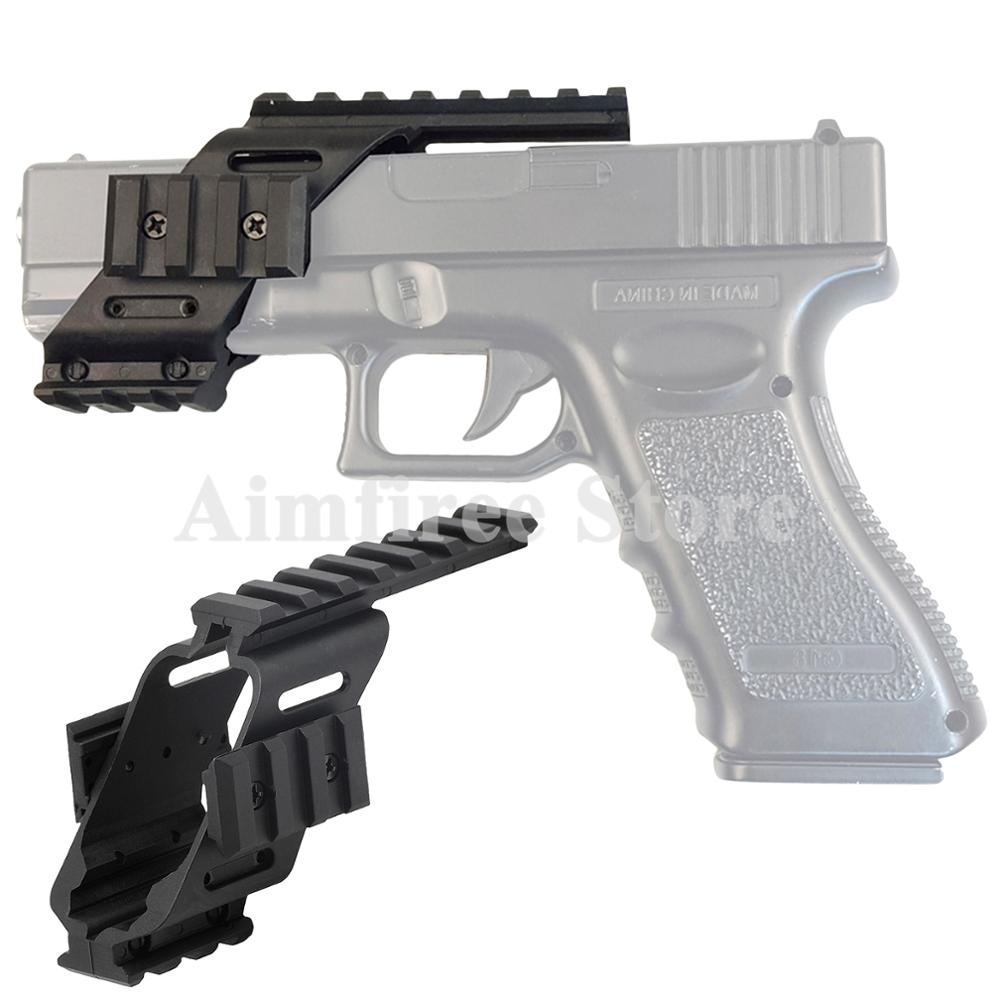 Universal Pistol Scope Rail Mount With Quad 20mm Picatinny Weaver Rail Polymer For Glock 17 5.56 Hunting Accessories