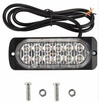 12W Led Car Surface Mounting Sidelights Rear Warning Lights Emergency Light Signal Light 16flash Waterproof 2pcs