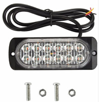 12W Led Car Surface Mounting Sidelights Rear Warning Lights Emergency Light Signal Light 16flash Waterproof 2pcs