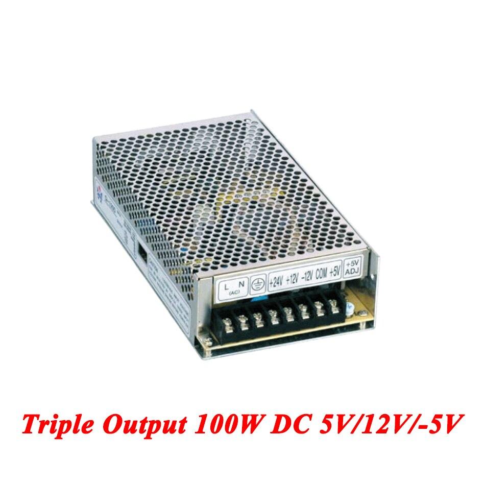 T-100A Triple Output Switching Power Supply 100W 5V/12V/-5V,Ac Dc Converter For Led Strip Light,110V/220V Transformer To DC t 120a triple output power supply 120w 5v 15v 15v power suply ac dc converter power supply switching