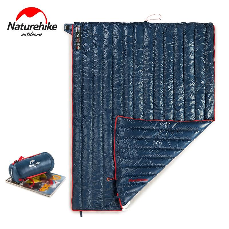 Naturehike saco de dormir Ultra ligero para adultos al aire libre camping ganso abajo saco de dormir cuadrado cálido