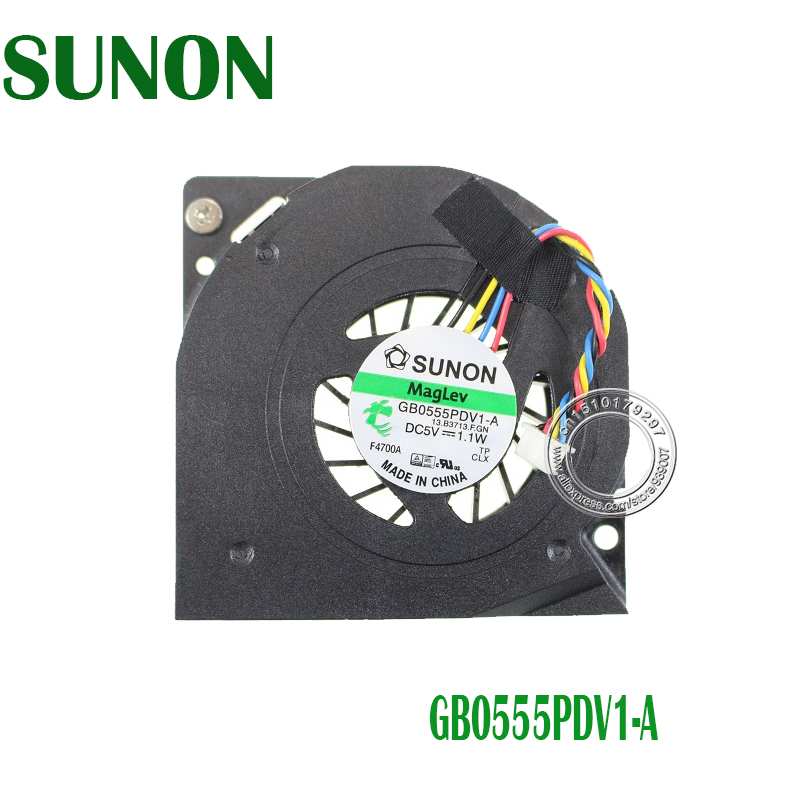 New All In One Computer Cooling Fan GB0555PDV1-A 13. B3713.F. GN DC 5 v 1.1 w DC3217IYE 4-Pin Para O Intel NUC