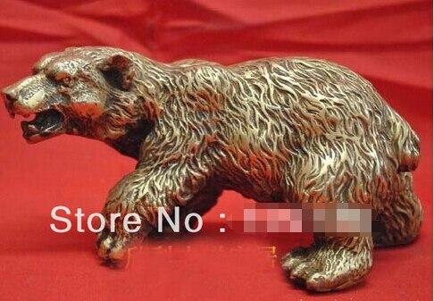 0 Bronze Sculpture Art Ferocious Bear Brown Bear Statue