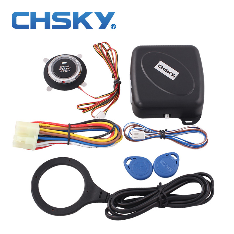CHSKY Car-Alarm-System Stop Push-Engine-Start-Stop-Button Keyless Start Cars RFID 12v