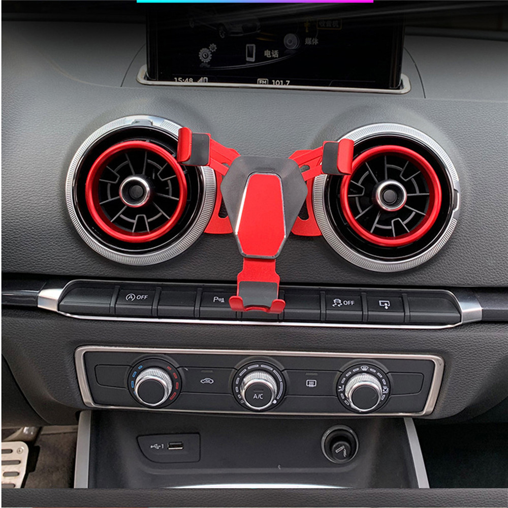 Gravity Air Vent Car Mount Holder for Audi A3 S3 Universal Mobile phone Car GPS Bracket Cradle Stand 360 degrees rotation