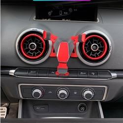 Grawitacyjny odpowietrznik uchwyt samochodowy do Audi A3 S3 uniwersalny telefon komórkowy nawigacja samochodowa gps kołyskowy uchwyt stojak 360 stopni obrót