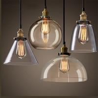 Americal Land Stil Edison Pendelleuchte  Vintage Loft glas Lampenschirm E27 Pendelleuchten Industrielle/Home Hängeleuchten Deco-in Pendelleuchten aus Licht & Beleuchtung bei