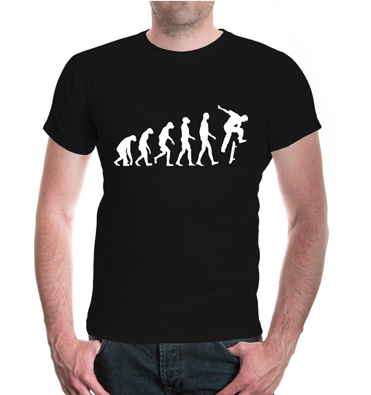 BuXsbaum T-Shirt The Evolution of Skate Cheap Sale 100 % Cotton T Shirts for Boys Man Print T-Shirt Hipster Top Tee