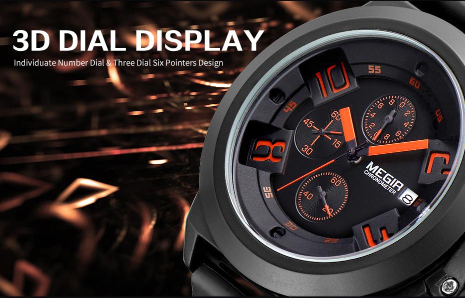Topdudes.com - MEGIR Creative Men's Sport Watch Top Brand Luxury Military Watches