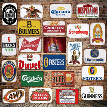 [ WellCraft ] Beer world Bar Tin Sign Wall Posters art Vintage Mural Painting Personality Custom Hotel PUB Decor LT-1726