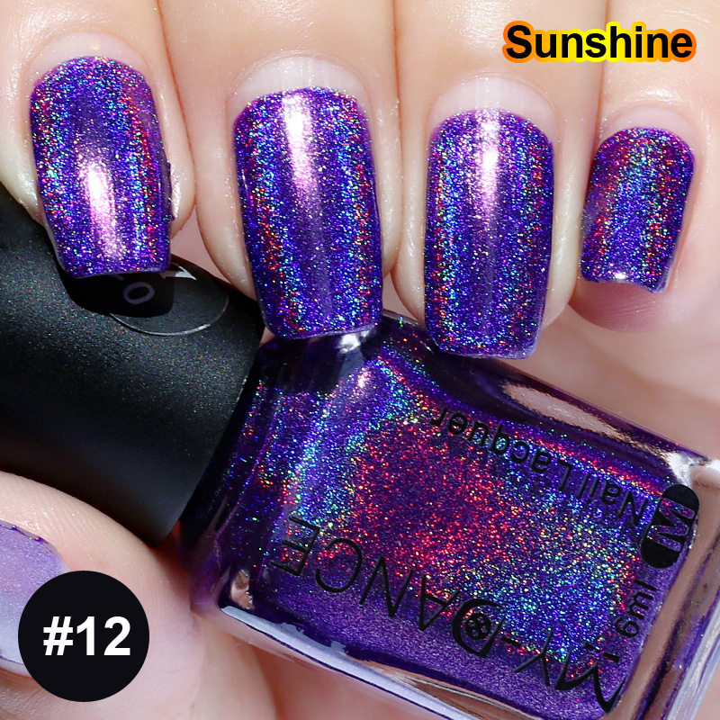 6ML Laser Diamond Colorful Neon Nail Gel Holographic Holo Glitter ...