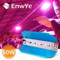 EnwYe 50W lámpara de crecimiento de plantas LED Luz de cultivo Phyto Simple floodlight 220V para invernadero de plantas hidropónico