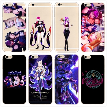 KDA POP STARS LOL new single hard phone case cover for Samsung s8 s9plus S6 S7Edge S5 for iPhone 7 6s 8plus 5s 5c X XS XR XSMAX
