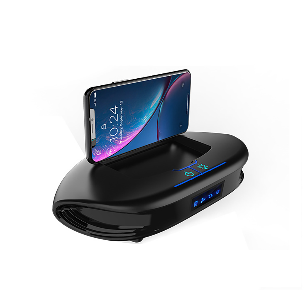 $29.99 Filterhualv Aromatherapy negative ions solar car air purifier&Car holder desk stand For iphone x xs xr xiaomi Samsung Note 9 8