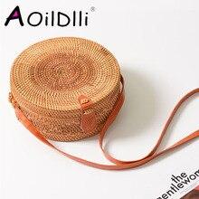 Vietnam Hand Woven Bag Round Rattan Straw Bags