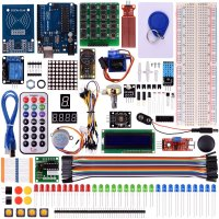 Miroad Upgrade RFID Master Starter Kit With Tutorials UNO R3 RC522 LCD1602 Breadboard And Sensors Modules