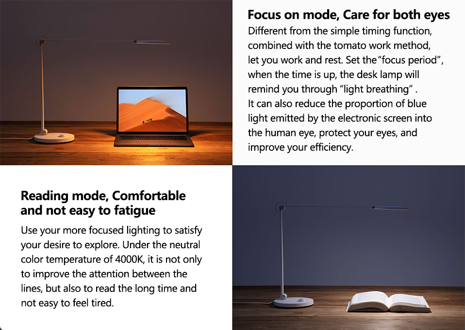 Xiaomi Mijia LED Desk Lamp Pro Smart Eye Protection Table Lamps Dimming Reading Light Work with Apple HomeKit Reading Light (11)
