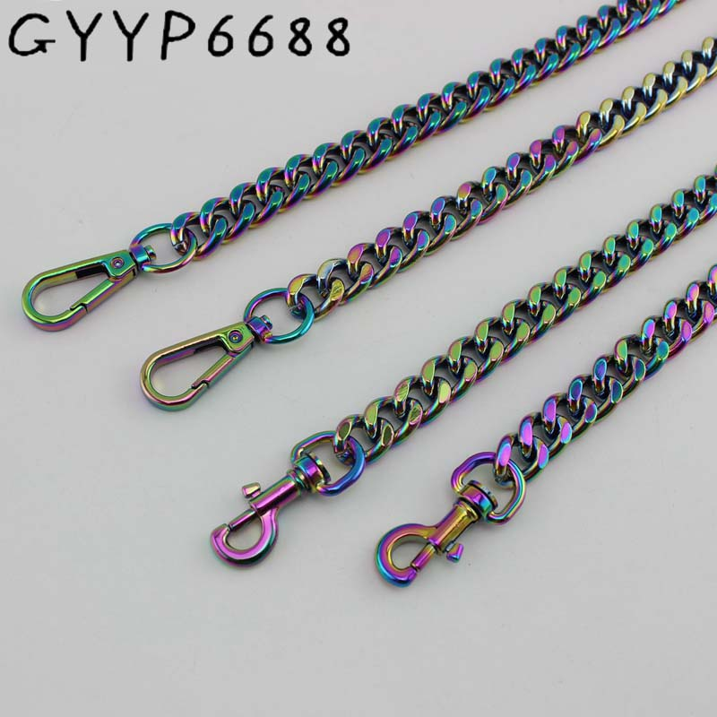13mm Aluminous Iridescent For Sewing Purse Bag Adjusted Strap Chains Bags Chain  Hardware Accessories Metal Package Chain Rough