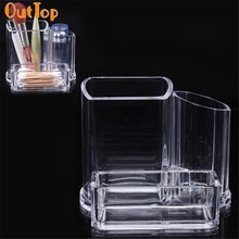 OutTop Love Beauty 1pcs HOT Clear Acrylic Cosmetic Makeup Organizer Lipstick Brush Display Holder Stand ZYQ 180315 drop ship(China)