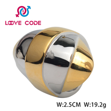 High Polished Custom Made The Last One Of Silvery And Gold Jewelry Fashion Nipple Size 8 Rings