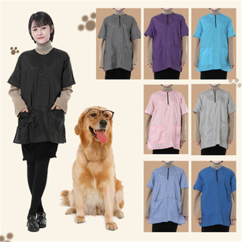 ALX-Pet Shop Cosmetology Uniforms Men And Women Beauticians For Waterproof And Breathable Work Clothes