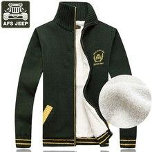 Afs джип кардиган Для мужчин свитер флис теплый свитер Для мужчин Стандартный шерстяной кардиган мужской моды Для мужчин водолазка Для мужчин пальто XXXL