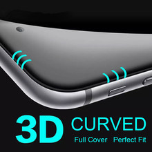 Real 3D 0 3mm Full Curved Arc Edge Tempered Glass Film Screen Protector For iPhone 7