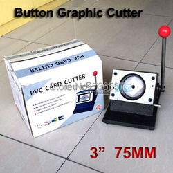 75mm NEW Heavy Duty Manual 3 Multi Sheets Stand Paper Graphic Punch Die Cutter for Pro Button Maker