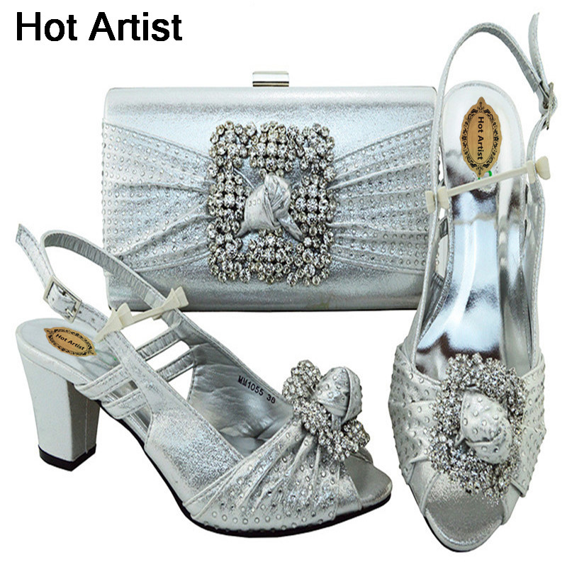 Hot Artist Shoes And Bag Set African Sets Italian Shoes With Matching Bags High Quality Women Shoes And Bag To Match Set MM1055 italian high quality matching fashion shoes and bag to match shoes and bag set designer african party shoes and bag bch 33a