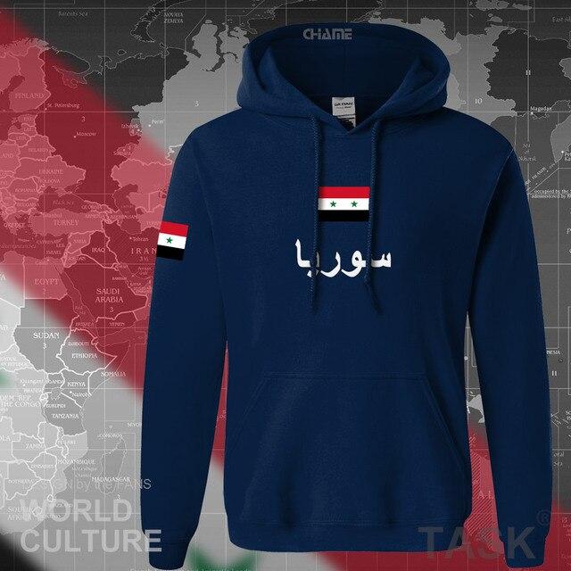 Syrian Arab Republic Syria hoodies men sweatshirt sweat new hip hop streetwear tracksuit nation footballer sporting SYR Arabic 1