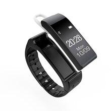 Лидер продаж! Оригинальный V6 (k2) Smart Band Напульсники браслет с Съемная Bluetooth наушники гарнитуры SmartBand Шагомер сна