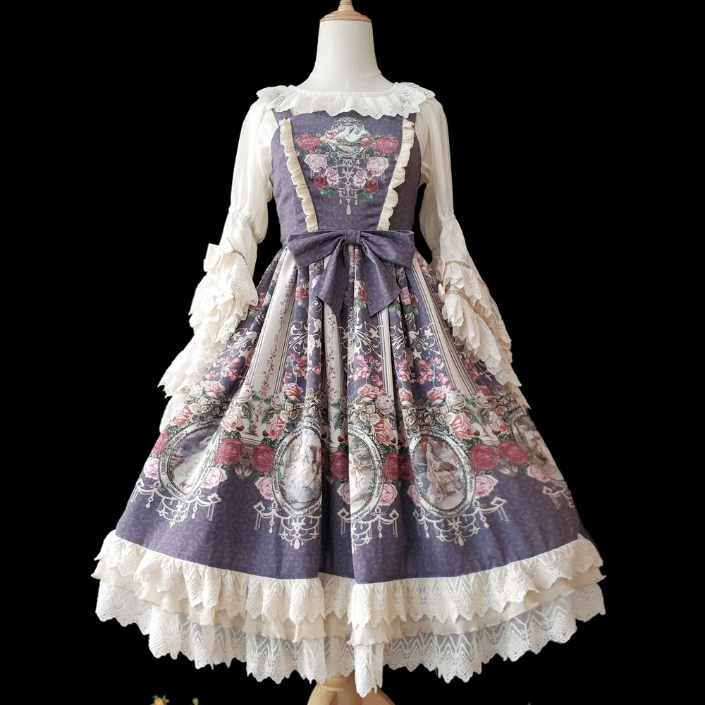 Royal Wall Painting Sweet Printed Lolita JSK Dress by Infanta Pre order