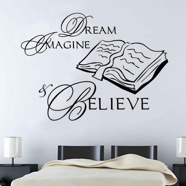 DCTOP Dream Imagine Geloven In Boek Muursticker Interieur Waterdicht ...