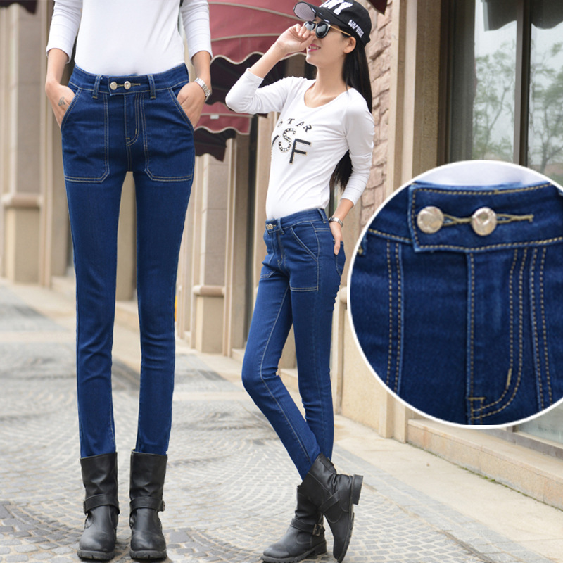 Jeans for women Jeans With Mid High Waist Jeans Woman High Elastic Plus Size Trousers Femme Washed Casual Skinny Pencil Pants djgrster jeans for women with low waist jeans woman high elastic plus size women jeans femme washed casual skinny pencil pants