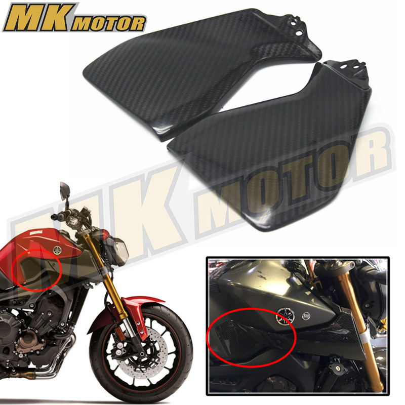 BYSPRINT Free shipping for Yamaha MT09 FZ09  2014 2015 2016 Side Panels REAL CARBON FIBER NEW The side shell  Carbon 2pcs