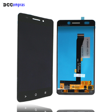 Para Highscreen Poder Cinco Evo Display LCD Peças de Telefone Para Highscreen Tela Sensível Ao Toque De Cinco Evo Tela de LCD conjunto do Visor
