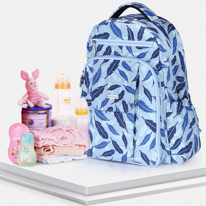 Fashion multi-functional large-capacity mother bag waterproof shoulder Mommy package mother to be born package backpack functional capacity of mango leave extracts
