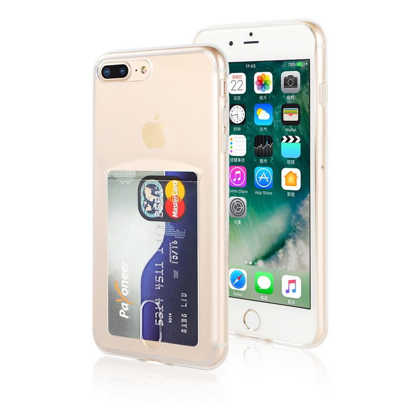 Transparent Soft TPU Card Holder Case for iPhone 11/11 Pro/11 Pro Max 29