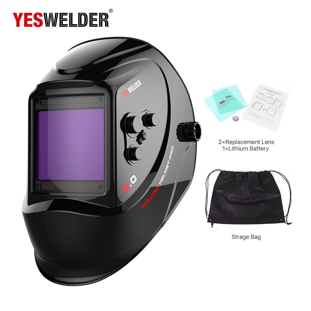USA Stock LYG 800H Solar Auto Darkening MIG MMA Electric Welding Mask/Helmet/welder Cap/Welding Lens for Welding Machine
