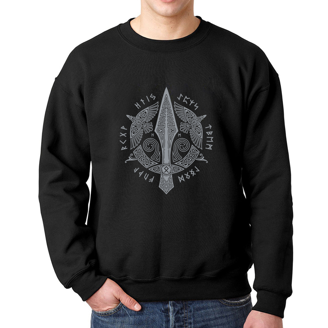 Vikings Odin Top Brand Tracksuits 2019 Sweatshirt Odin Viking Hoodies For Men O-Neck Long Sleeve Clothes Casual Fleece Pullovers