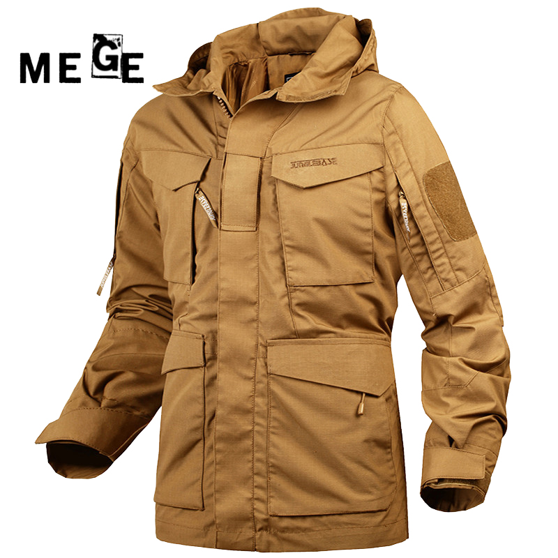 MEGE Jaqueta Masculino Inverno M65 UK US Army Clothing Military Hunting Hiking Windbreaker Hoodies Typhon Casaco