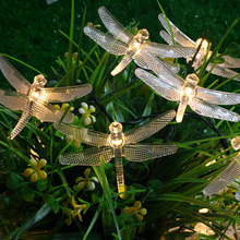 Outdoor String Lights Dragonfly 5M 20 Leds Starry Lighting Christmas  Decorations For Home Garden Light Garden Square Decoration