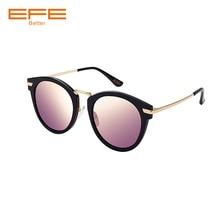 EFE New Black Pink Sunglasses Polarized Lens Unisex Retro Sunglasses Metal Frame Vintage Eyewear Accessories Sun Glasses E58080 xiaomi retro trendy unisex nylon lens sunglasses