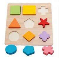 MamimamiHome Bé Đồ Chơi Gỗ Hình Dạng Hình Học Kết Hợp Giáo Dục Sớm Ghép Hình Stereo Puzzle Montessori Câu Đố Đồ Chơi