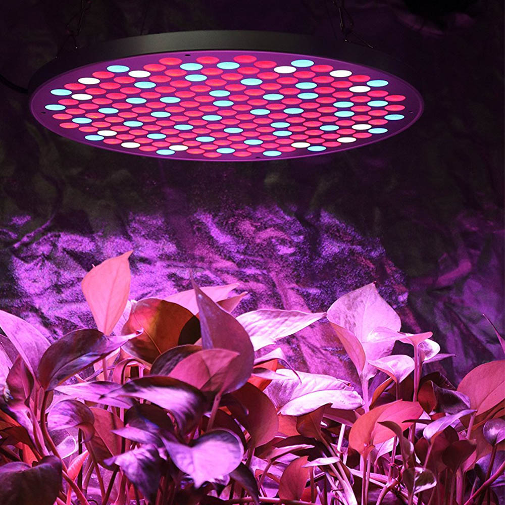 Spider Cob UFO Full Spectrum 50 Watt LED Grow Light Kits Ultrathin 1.1CM Indoor Plant Light Panel for Veg Bloom Houseplants
