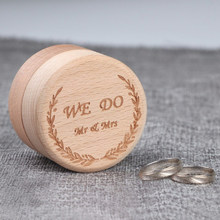 Top Selling Luxury Wood Ring Box Personalized Rustic Wedding Holder Custom Your Names and Date Wedding Ring Bearer Box(China)